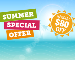 $80 OFF - Summer Special Offer 2016!