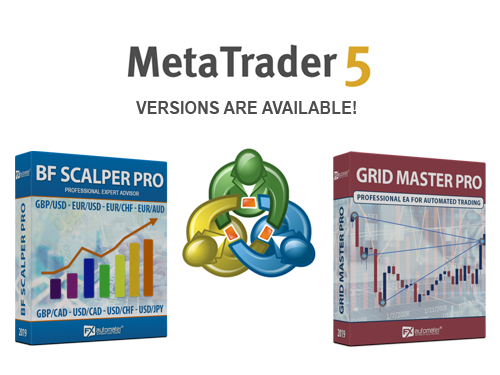 MT5 versions of BF Scalper PRO and Grid Master PRO are available!